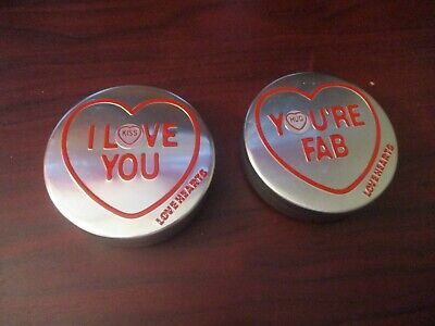 Swizzle Matlow Set Of Two Love Heart Sweet Tins - Valentines Day Tin (Empty) • 4.99£