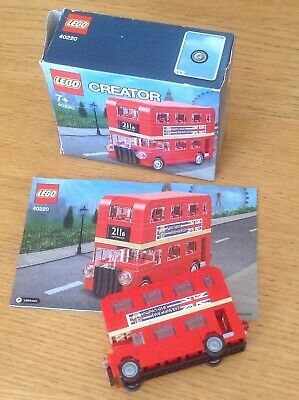 $ CDN25.06 • Buy Lego 40220 London Double Decker Bus - With Lester Leicester Square Stickers