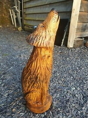 £74.99 • Buy Chainsaw Carved Hardwood Wolf