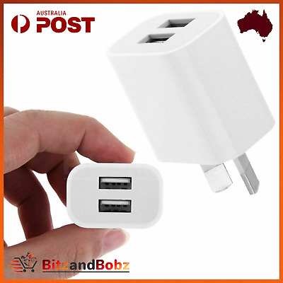 AU7 • Buy 5V 2A DUAL OEM AC AU Plug USB Wall Charger Adapater For IPhone 6s 7 8+ X Samsung