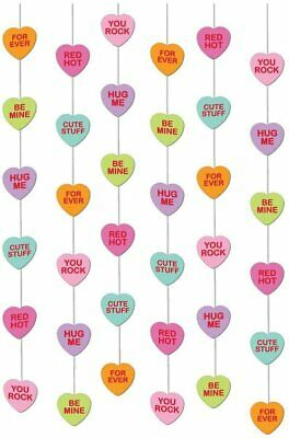 6 X 7ft Love Hearts Hanging String Party Decorations Wedding Engagement  • 2.99£