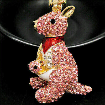 PINK  KANGAROO   Key Ring  Handbag Charm OR Necklace Ideal Christmas Present  • 4.99£