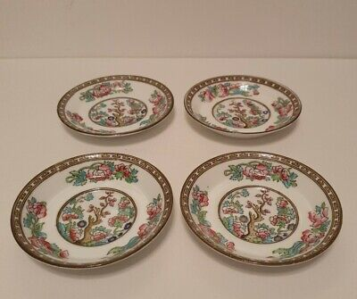 £18 • Buy 4 Anchor Sampson Bridgwood & Sons 8746a  Indian Tree  Handpainted Saucers