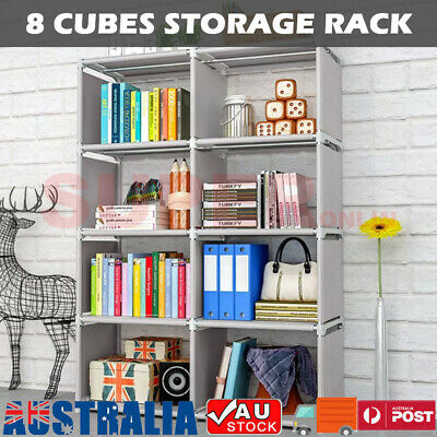 AU37.95 • Buy 8 Cube Bookcase Bookshelf Cabinet Storage Shelf Rack Organizer Book Display Unit