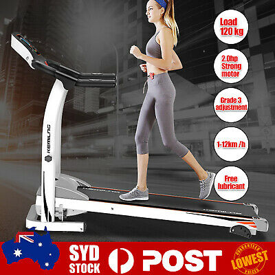 AU299.99 • Buy Folding Electric Treadmill Walking Ultra Thin Silent Intended Compact Exercise O
