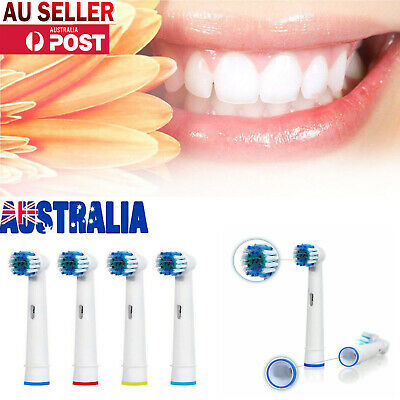 AU5.80 • Buy Compatible With Oral B Replacement Soft Bristles Electric Toothbrush Heads Brush