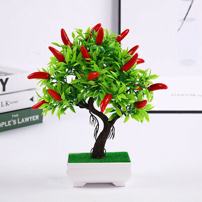 LN_ IC- BE_ HN- ITS- 1Pc Artificial Plant Chili Tree Miniascape Plant Wedding  • 4.65£