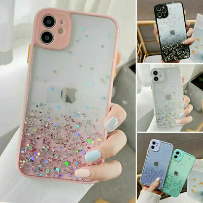 AU8.69 • Buy Cute Bling Glitter Clear Case Girls Cover For IPhone 11 Pro Max 8 Plus XR XS Max
