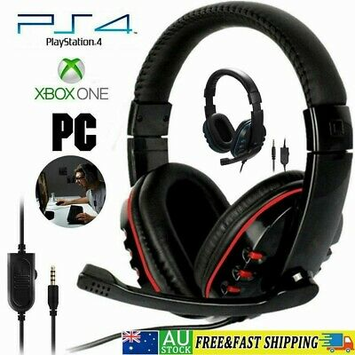 AU17.78 • Buy Gaming Headset Headphone With Mic Wired For PS4 PlayStation 4 Xbox One PC Laptop