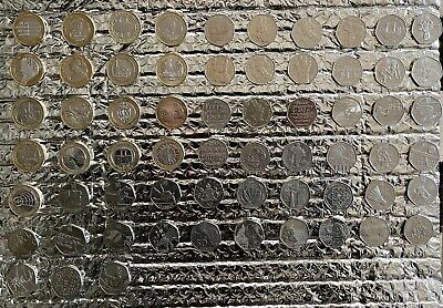 £2 Pound Coin And 50 Pence Piece Coin Collection Job Lot Rare Nice Condition £p • 190£