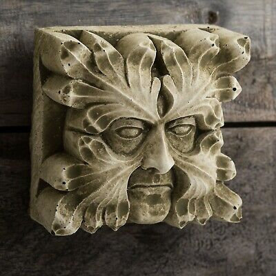 Square Gothic Gargoyle Reconstituted Stone Wall Hanging  • 16.49£