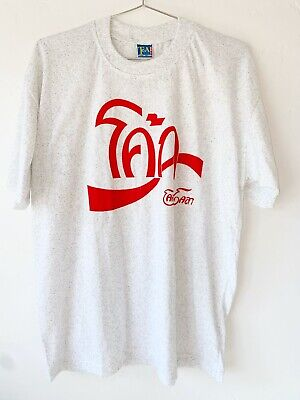 $17 • Buy Vintage T Shirt Thai Coca Cola Early 00's Gray Speckled Static Soft Weird Men L
