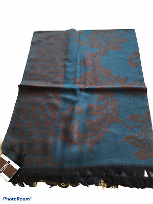 £3.95 • Buy New, Tie Rack Viscose Scarf Stole Blue Brown Soft Feel. Gift Idea