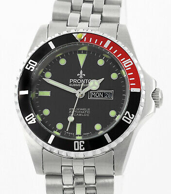 $ CDN478.60 • Buy PRONTO Submersible Automatic All Swiss New Old Stock Mens Mid Size Wrist Watch