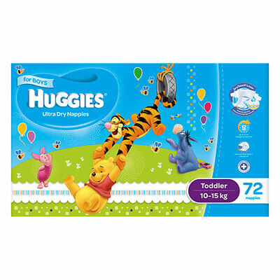 AU51.99 • Buy NEW Huggies Ultra Dry Nappies Toddler 10-15Kg 72 Pack