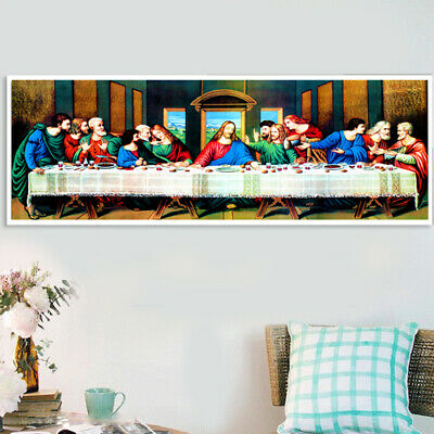 AU15.39 • Buy 5D DIY Diamond Painting The Last Supper Cross Stitch Craft Embroidery Home Decor