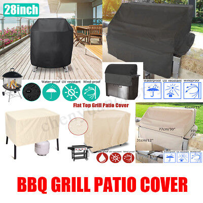 AU19.37 • Buy BBQ Cover Burner Gas Grill Top Barbecue Charcoal Waterproof Outdoor Protector