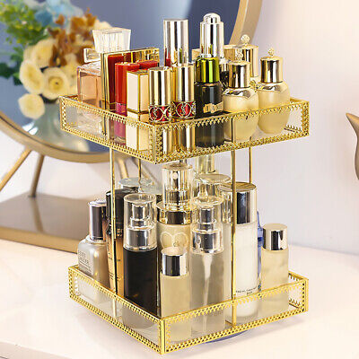 £25.96 • Buy Glass Makeup Storage Tower Cosmetic Jewelry Perfume Display Stand RotatingHolder