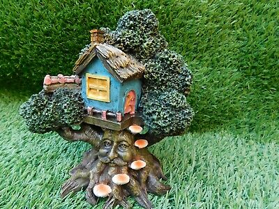 £19.95 • Buy Lovely Magical Fairy Pixie Green Man Tree House Home Garden Sculpture Ornament