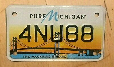 $22.99 • Buy The Mackinac Bridge Motorcycle Cycle Colorful Graphic License Plate   4 Nu 88