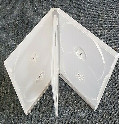 AU6.20 • Buy 1 X Hold 6 14mm Standard Hex DVD Cover Disc Case Holds 6 Discs Outer Wrap CLEAR