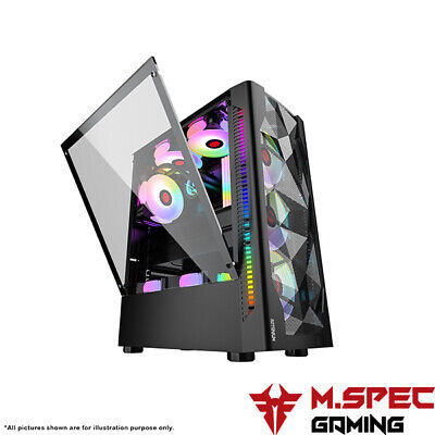 AU105 • Buy PC Case Gaming ATX Tempered Glass With 4x120mm ARGB Cooler Fan+Controller(TG305)