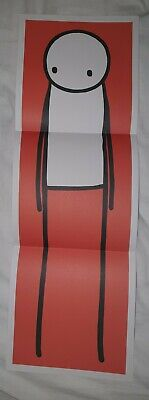 Rare Stik Big Issue 2013 Unsigned Poster Print Red Mint Condition Ready To Frame • 299£