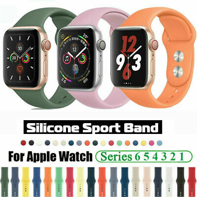 AU5.59 • Buy For Apple Watch SE IWatch Series 6 5 4 3/38/42/40/44mm Soft Silicone Band Strap