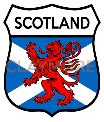 SCOTLAND Motorcycle Sticker Classic Car Bike Helmet Scotland Highlands • 2.50£