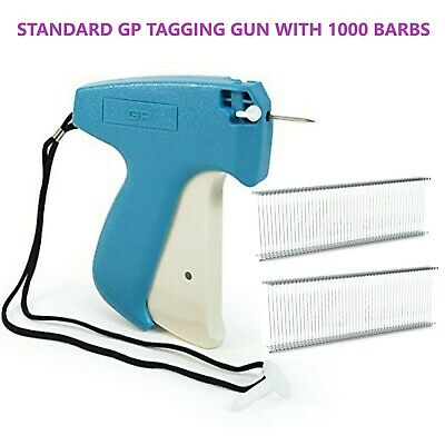 GP Standard Tagging Gun System +1000 Barbs Kimble Tag Label For Clothes Sock • 10.15£