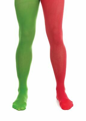 £3.99 • Buy Red & Green Elf Tights - Costume Accessory Fancy Dress World Book Day Christmas