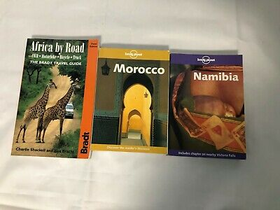 £9.99 • Buy 3x Africa Travel Books Lonely Planet Morocco Namibia Bradt Africa By Road