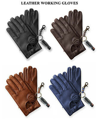 Mens Classic Retro Style Quality Chauffeur Soft Lambskin Leather Driving Gloves • 8.99£