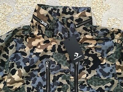 Converse Womens Utility Jacket Coat Leopard Print Camouflage Large NEW RRP £105 • 47£