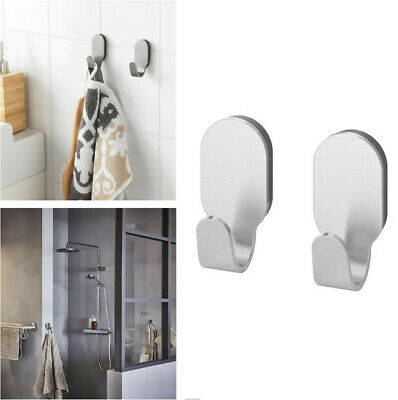 Ikea BROGRUND Wall Over Door Hooks Knobs Clothes Towels Hanger For Bathroom UK • 8.99£