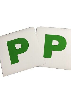 2x New Driver P Plate Magnetic Stickers Car Learner Just Passed Vinyl Signs • 1£