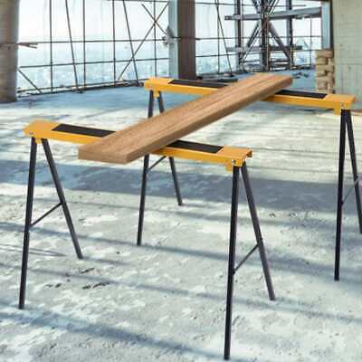 2Pcs Folding Heavy Duty Sawhorse Saw Horse Non Slip Trestle Stands Work Support • 36.99£