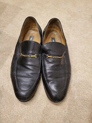 Bally Shoes Loafers Mens Leather Vibram Soles Reinforced UK 10 Black • 29.99£