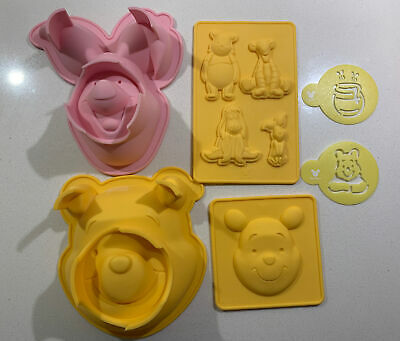 Disney Piglet Winnie The Pooh Silicone Mould Chocolate Cake Mold Jelly Tigger • 14.99£