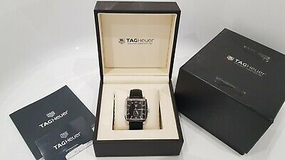 TAG HEUER MONACO MENS 37MM, WITH BOX & GUARANTEE CARD Steve McQueen Black Colour • 1,595£
