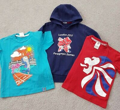 Bundle Boys Age 5-6 Years Team GB Olympics Paralympic 2012 Hoodie Jumper T Shirt • 2.50£