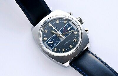 $ CDN763.02 • Buy Vintage BWC Chronograph Valjoux 7733 Steel Blue Dial Serviced Very Nice!