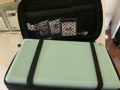 AU70 • Buy Nintendo DS Lite Blue Handheld System With 3 Childrens Games And Protector Case