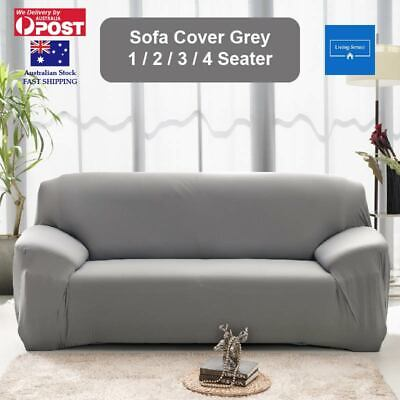 AU22.49 • Buy Sofa Cover Grey Couch Covers 1 2 3 Seater Lounge Slipcover Protector Stretch