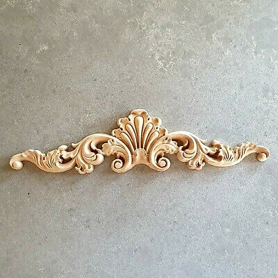 AU20.95 • Buy 1x Shabby Chic French Furniture Moulding Furniture Applique Carving Onlay