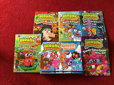 £2.99 • Buy Moshi Monsters Activity Carry Case Sticker Books X 5 Brand New