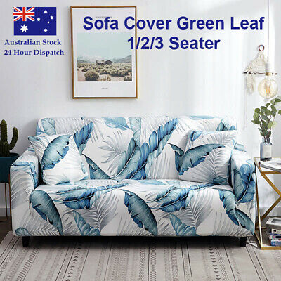 AU20.49 • Buy Sofa Cover Green Leaf Couch Covers 1 2 3 Seater Lounge Slipcover Protector