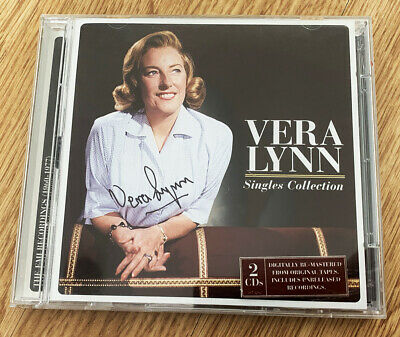 £44.99 • Buy DAME VERA LYNN SIGNED DOUBLE CD Singles Collection REMASTERED Unreleased NE