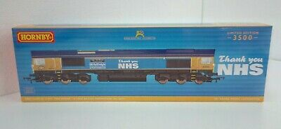 NEW Hornby R30069 OO Gauge Class 66 GBRf  Capt Tom Moore  Thank You NHS Loco • 194.99£