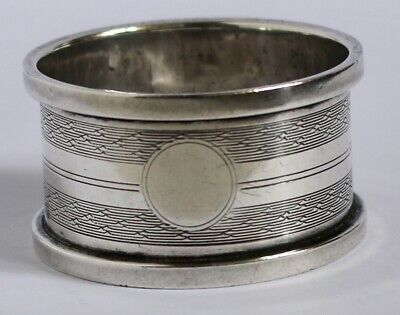 Sterling Silver Engine Turned Circular Napkin Ring By Robert Pringle • 20£